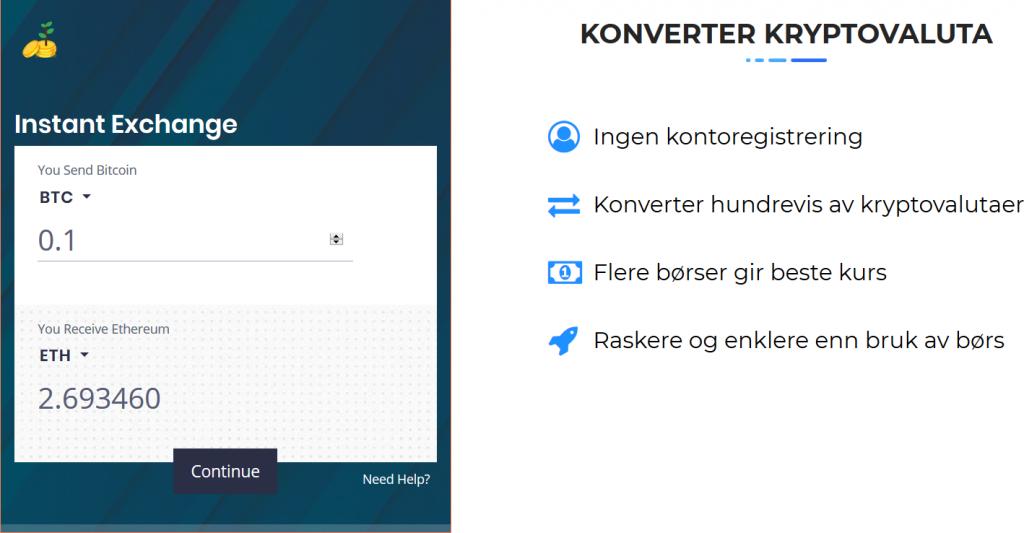 Introduserer HandleKrypto: Den raskeste vei til kryptovaluta. Kjøp kryptovaluta med bankkort på sekunder. Konverter kryptovaluta raskt og enkelt på1–2–3. 2