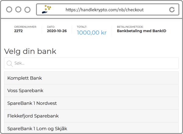 Kjøp Bitcoin og annen kryptovaluta enkelt med open banking og BankID.